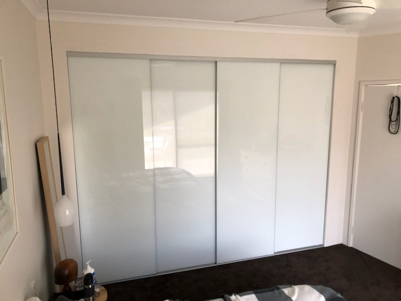 Four Door Frameless Sliding Wardrobe Doors