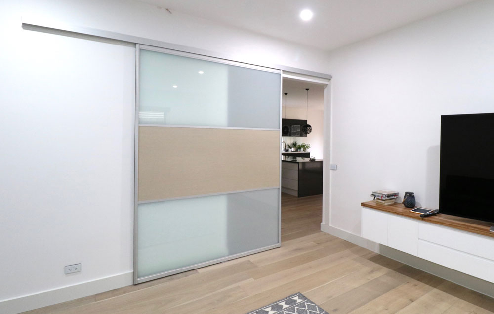 Top Hung Sliding Doors to Create A Room Divider