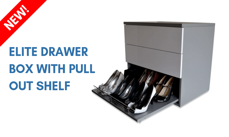 Elite Wardrobe Drawer Box Shoe Shelf