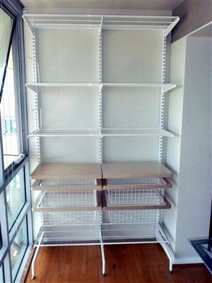 Freestanding Storage Solution Two Bays