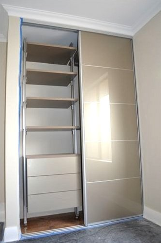 elite Modular Velveteen Wardrobe and Doors by The Wardrobe Man